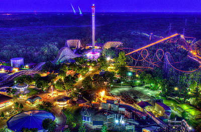 Rollercoaster Photograph - Kings Island Amusement Park by David Long