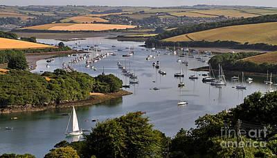 Boat Photograph - Kingsbridge Estuary Devon by Louise Heusinkveld