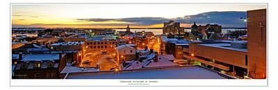 Kingston Cityscape At Sunrise Print by Paul Wash