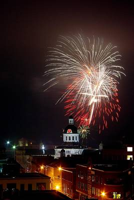 Kingston New Years Eve Fireworks Print by Paul Wash