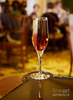 Champagne Photograph - Kir Royale In A Champagne Glass by Louise Heusinkveld