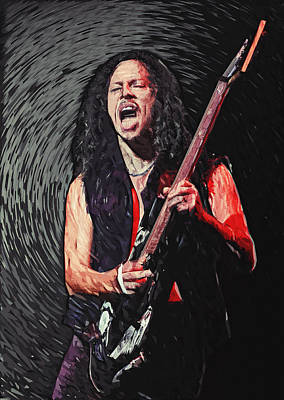 Esp Guitars Digital Art - Kirk Hammett by Taylan Soyturk