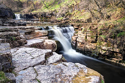 Knaresborough Photograph - Kisdon Force Waterfall by Chris Frost