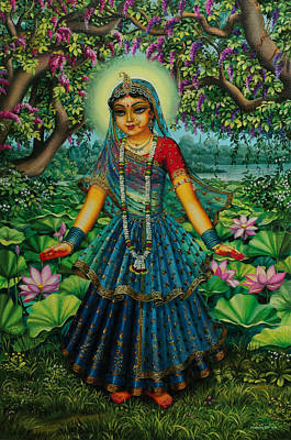 Vishnu Painting - Kishori Radha by Vrindavan Das