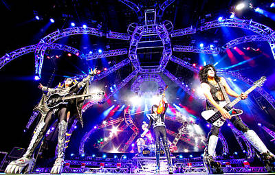 Kiss - 40th Anniversary Tour Live - Simmons, Stanley, And Thayer Print by Epic Rights