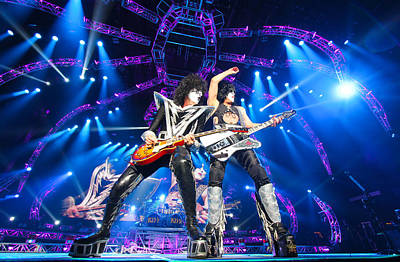 Kiss - 40th Anniversary Tour Live - Stanley And Thayer Print by Epic Rights