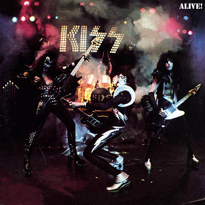 Heavy Metal Photograph - Kiss - Alive! by Epic Rights