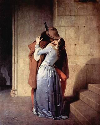 Hayez Painting - Kiss by Francesco Hayez