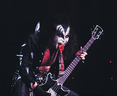 Kiss - Gene Simmons Blood 1973 Print by Epic Rights