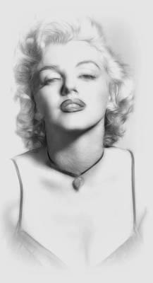 Marilyn Monroe Drawing - Kiss Me Baby by Stefan Kuhn