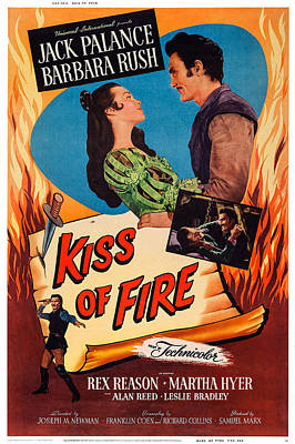 Jack Palance Photograph - Kiss Of Fire, Us Poster, Top From Left by Everett