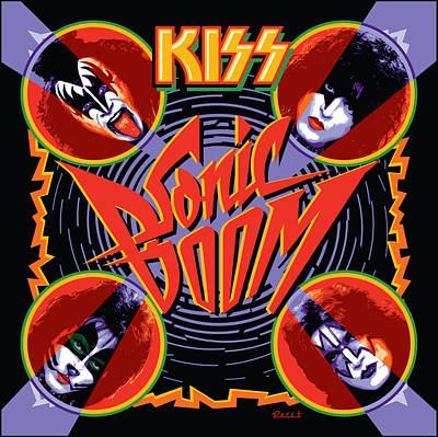 Kiss - Sonic Boom Print by Epic Rights