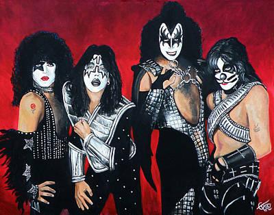 Kiss Print by Tom Carlton