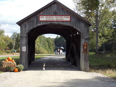 Vermont Country Store Photograph - Kissing Bridge by Catherine Gagne