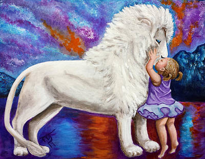 Of Toddlers Painting - Kissing The King by Pamorama Jones