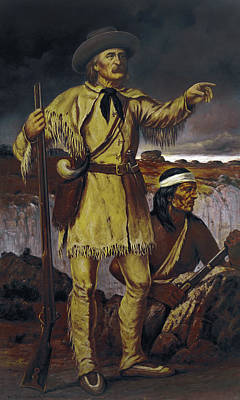 Manifest Destiny Painting - Kit Carson (1809-1868) by Granger