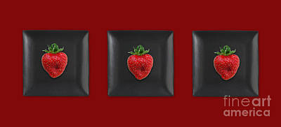 Strawberry Digital Art - Kitchen Art - Srawberries by Aimelle