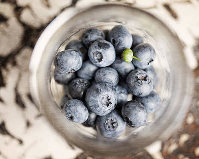 Kitchen Blueberries Print by Lisa Russo