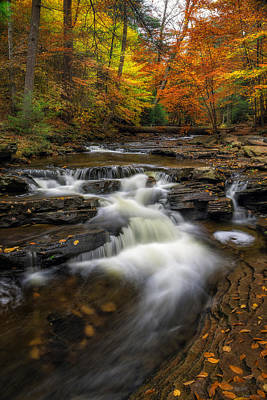 Kitchen Creek Cascades Print by Mark Papke