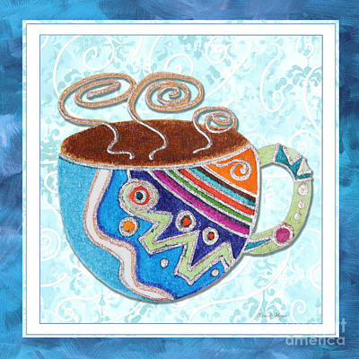 Kitchen Cuisine Hot Cuppa No20 By Romi And Megan Print by Megan Duncanson