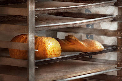 Baguettes Photograph - Kitchen - Food - Bread - Freshly Baked Bread  by Mike Savad