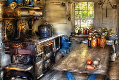 Kitchen - Home Country Kitchen  Print by Mike Savad