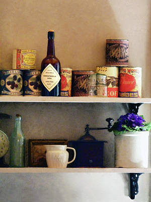 Cans Photograph - Kitchen Pantry by Susan Savad