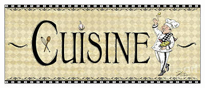 Kitchen Sign-cuisine Print by Shari Warren