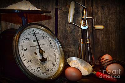 Beaters Photograph - Kitchen - The Vintage Baker by Paul Ward
