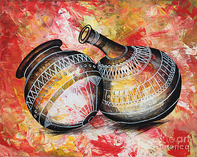 Painting - Kitchen Tools #1 by Abu Artist