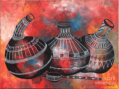Painting - Kitchen Tools #2 by Abu Artist