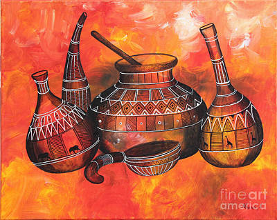 Painting - Kitchen Tools #3 by Abu Artist