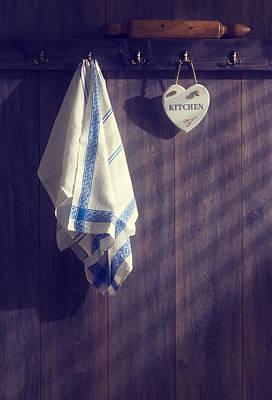 Kitchen Towels Print by Amanda Elwell