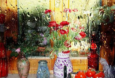 Kitchen Window Reverse Perspective Print by Dorothy Berry-Lound