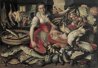 Martha Mary Painting - Kitchen With Chirst In The House Of Martha And Mary by Vincenzo Campi