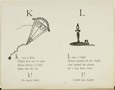 Kite And Light Print by British Library
