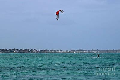 Kite Boarding Photograph - Kite Boarder by Deanna Proffitt