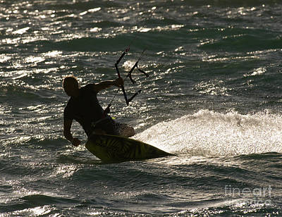 Kite Boarding Photograph - Kite Surfer 03 by Rick Piper Photography
