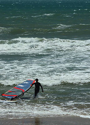 Photograph - Kiteboarder Pacific Coast Highway by Gail Maloney