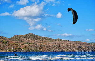 Kitesurfer 02 Print by Antony McAulay