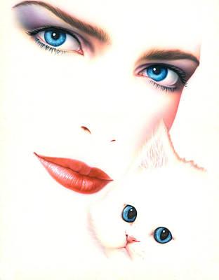 Kitten Love Print by Andrew Farley