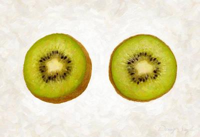 Kiwi Painting - Kiwi Slices by Danny Smythe