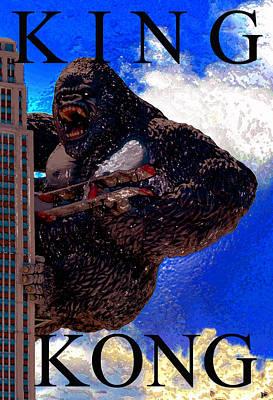 Monster Digital Art - Kong Artwork by David Lee Thompson