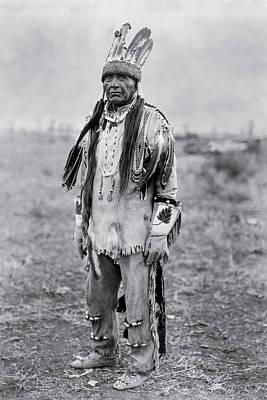 Klamath Indian Man Circa 1923 Print by Aged Pixel