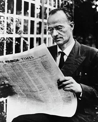 Cold War Photograph - Klaus Fuchs by Emilio Segre Visual Archives/american Institute Of Physics