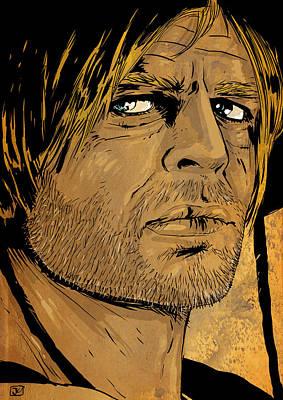 Westerns Drawing - Klaus Kinski by Giuseppe Cristiano