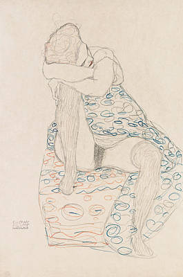 Klimt Seated Figure, 1910 Print by Granger