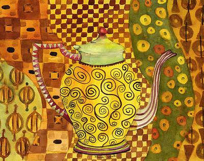 Klimt Style Teapot Blenda Studio Original by Blenda Studio
