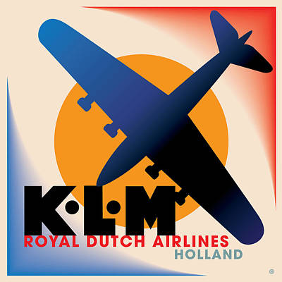 Klm Airlines Print by Gary Grayson