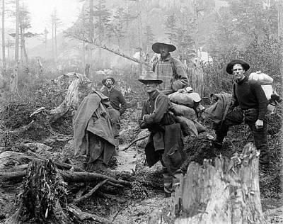 Klondike Gold Rush Miners  1897 Print by Daniel Hagerman